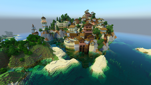 CraftBlock HD: Building 3D Crafting Game screenshots 1