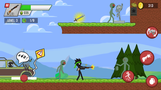 Stickman vs Zombies modiapk screenshots 1