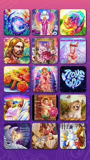 Bible Coloring - Paint by Number, Free Bible Games  screenshots 7