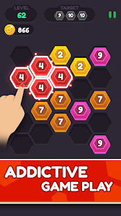 Hexa Puzzle Connect – Hex number Merge Game