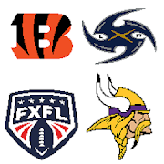 American Football Logo Pixel Art:  Color by Number