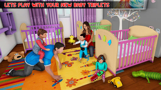 New Mother Baby Triplets Family Simulator  screenshots 12