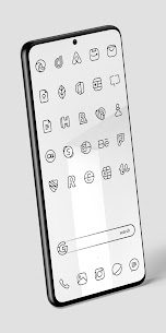 Caelus Black Icon Pack – Black Linear Icons v4.0.2 (Patched) 3