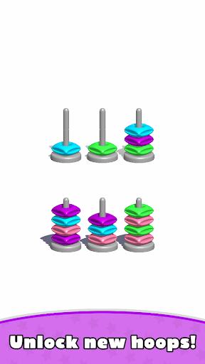 Sort Hoop Stack Color - 3D Color Sort Puzzle apkslow screenshots 9