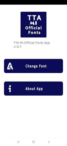 TTA Mi Official Myanmar Unicode Font 1.0.5 Screenshots 1