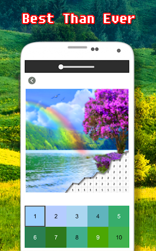 Landscape Coloring Book - Color By Number screenshots 2