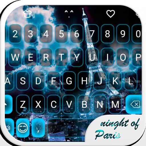 Night Paris Emoji Keyboard