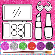 Glitter beauty coloring and drawing