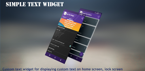 Simple Text Widget (Any Text) - Apps on Google Play