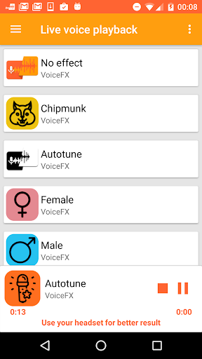 VoiceFX - Voice Changer with voice effects screenshots 5