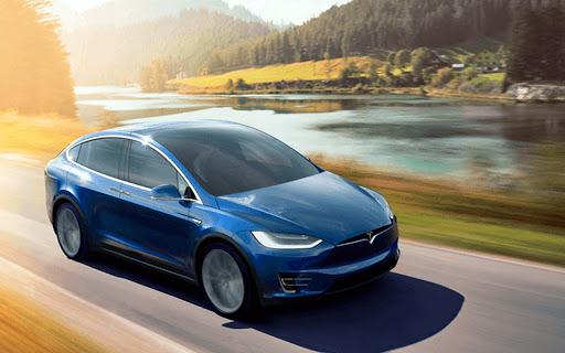 Electric Car Simulator 2021: City Driving Model X Apkfinish screenshots 4