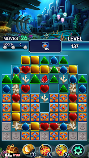 Jewel ocean world: Match-3 puzzle Apkfinish screenshots 15