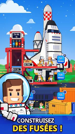 Télécharger Rocket Star Tycoon Game - Magnat de l'espace APK MOD (Astuce) screenshots 1