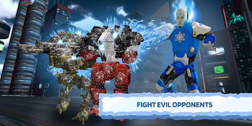 Ice Superhero Flying Robot - Fighting Games  Pc-softi 3