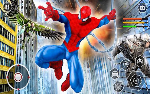 Spider Rope Superhero War Game - Crime City Battle  screenshots 1