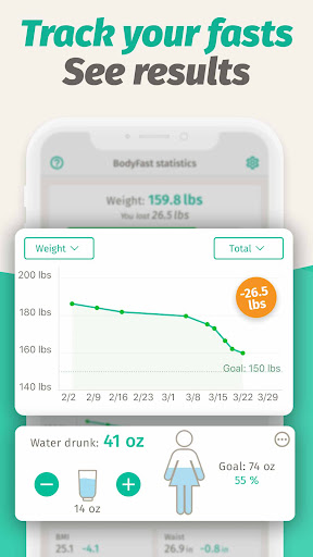 BodyFast Intermittent Fasting Tracker - Diet Coach android2mod screenshots 4