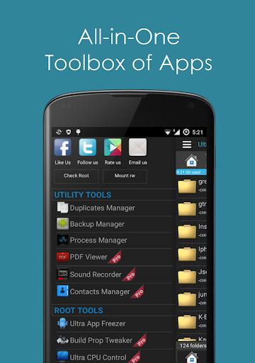 Ultra Explorer [Root Browser] 1.3.2 Screenshots 1