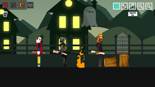 Halloween Ragdoll Playground: Human Witch android2mod screenshots 2