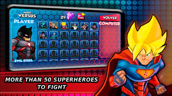 Superheroes Fighting Games Shadow Battle Screenshot