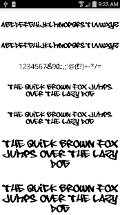 Fonts for FlipFont Graffiti Screenshot