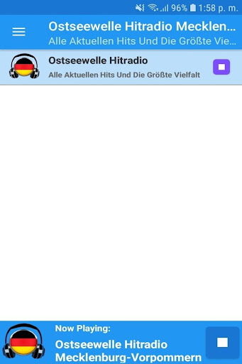 Ostseewelle Hitradio Mecklenburg-Vorpommern App 1.1 screenshots 1