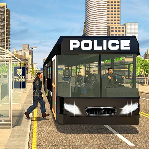 Simulador de condução de ônibus de polícia: unidad
