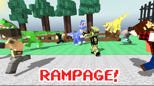 Blocky Dino Park: Raptor Attack apkdebit screenshots 3