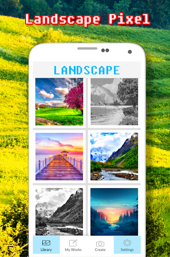 Landscape Coloring Book - Color By Number screenshots 1