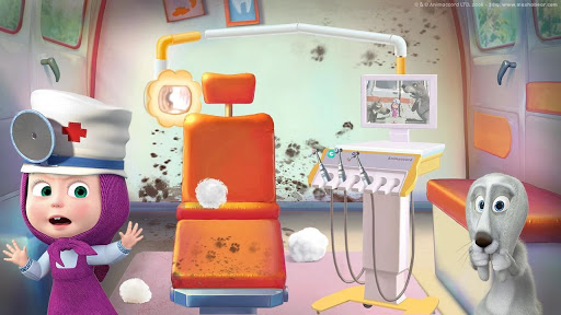 Masha and the Bear: Free Dentist Games for Kids  Screenshots 6