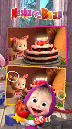 Masha and the Bear - Spot the differences  screenshots 5