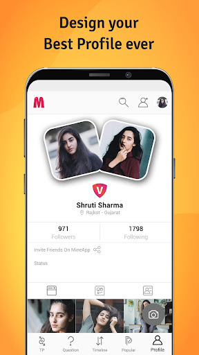 mineapp - truly indian social app screenshot 3