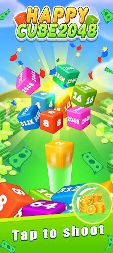 Happy Cube 2048 - merge 3D cube  screenshots 2
