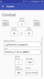 Character Sheet (3.5) screenshots 1