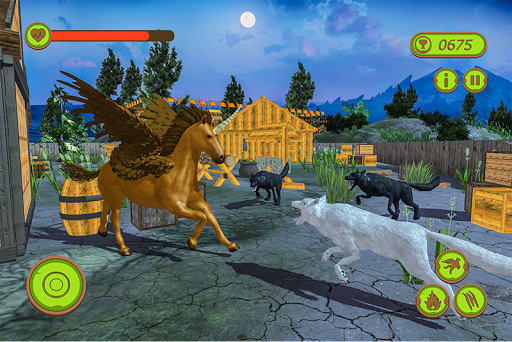Flying Unicorn Horse Family Jungle Survival android2mod screenshots 4