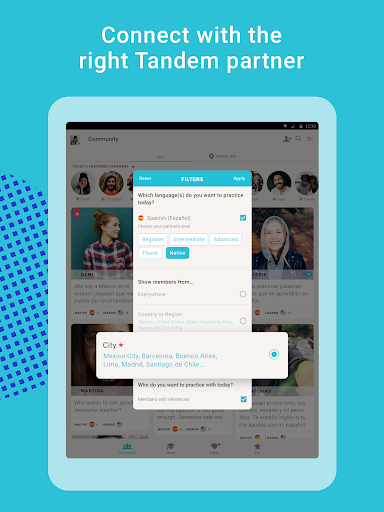 Tandem Language Exchange: Speak & learn languages 2.4.2 Screenshots 10