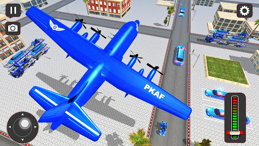 USA Police Car Transporter Games: Airplane Games  screenshots 4