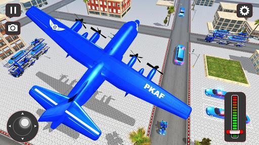 USA Police Car Transporter Games: Airplane Games apktram screenshots 4