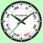 Informative Analog Clock Live Wallpaper-7
