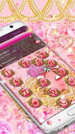 Pink Gold Diamond Live Theme  Screenshots 5