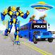 Flying Police Bus Robot Transform Car Robot Games