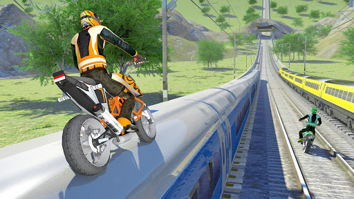 Bike vs. Train u2013 Top Speed Train Race Challenge modavailable screenshots 5
