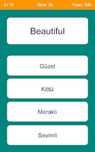 u0130ngilizce Kelime Testi 4.0 Screenshots 3