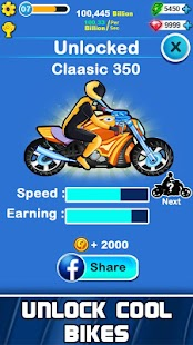 Merge Bike Click & idle Tap Tycoon - Well of Death Screenshot