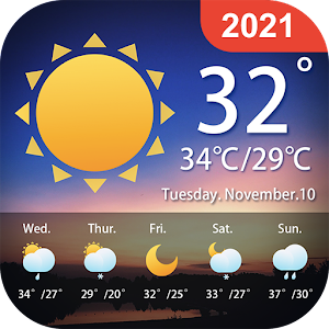 Weather Forecast Local Weather Alerts Widget 1.0.9 by Vitality App Studios logo
