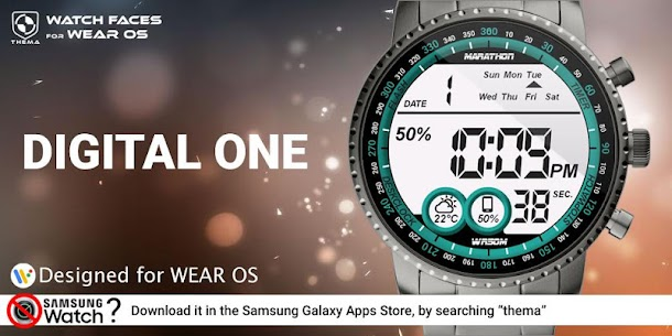 Digital One Watch Face Apk [Paid] Download for Android 1