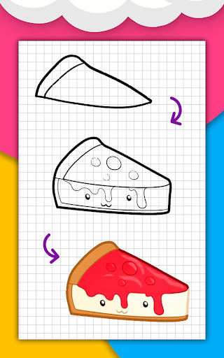 How to draw cute food, drinks step by step 1.6.2 Screenshots 7
