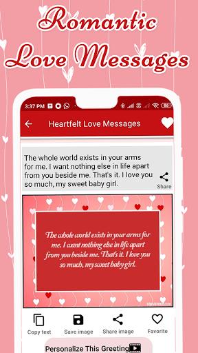 Code Triche Love Messages for Girlfriend ♥ Flirty Love Letters (Astuce) APK MOD screenshots 3