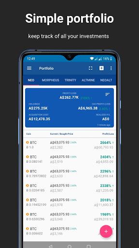 Foto do Cryptocurrency Bitcoin Alerts Portfolio Widgets