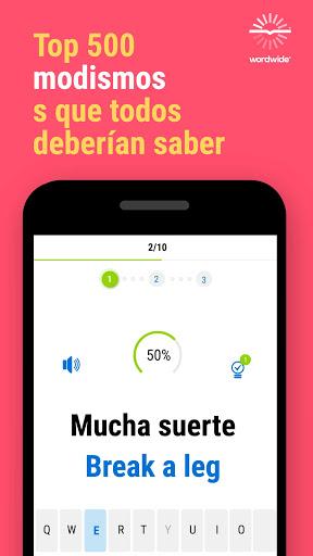Inglu00e9s y Worldwide: aprende mu00e1s palabras screenshots 2