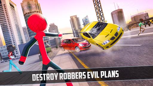 Rope Hero 2021: Stickman Rope Hero City Crime screenshots 1